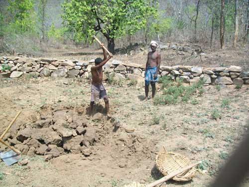 Villagers dig their Five Per cent ponds in Ulman village of Chinapur block in Palamau ahead of monsoon.