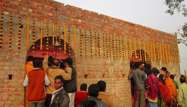 The Bonbibi temple, surrounding which the Ramrudrapur fair takes place; in 2013 the temple was renovated with donations from the participants