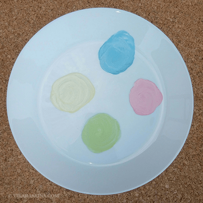 vika raskina - colors on the plate