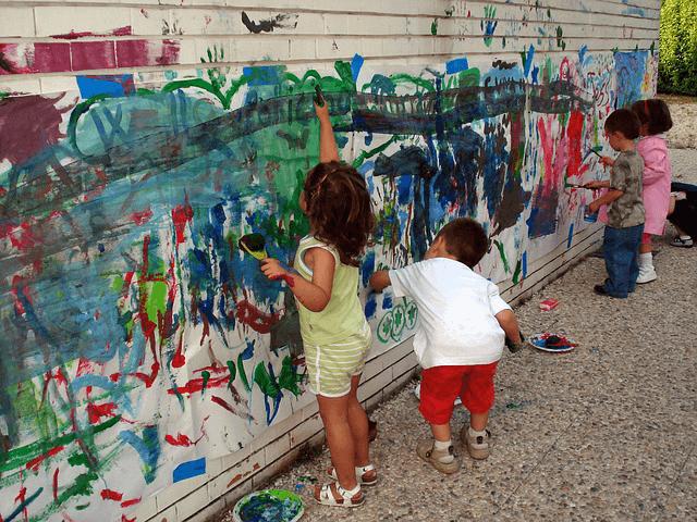 vika raskina - children hand painting