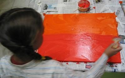 Рисуем жаркую печку с малышом 2-3 лет