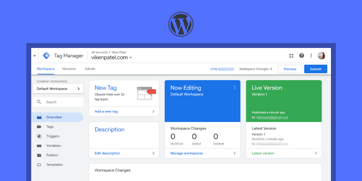How to Install Google Tag Manager on WordPress website