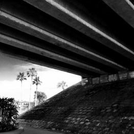 Beneath the Granada Boulevard Bridge over the Halifax River, Ormond Beach, FL