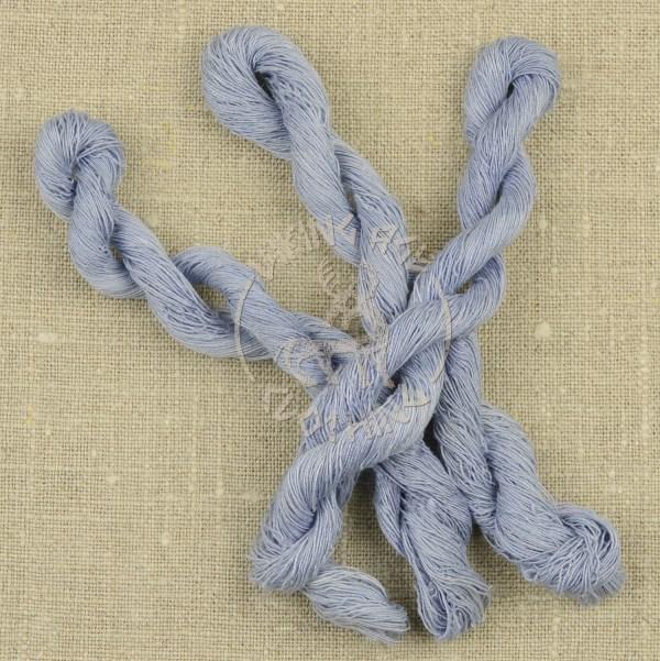 Plant-dyed Bocken's linen thread 60/2 - woad blue