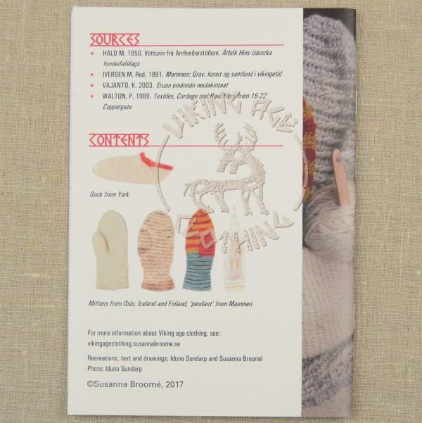 Nalbindning booklet - back