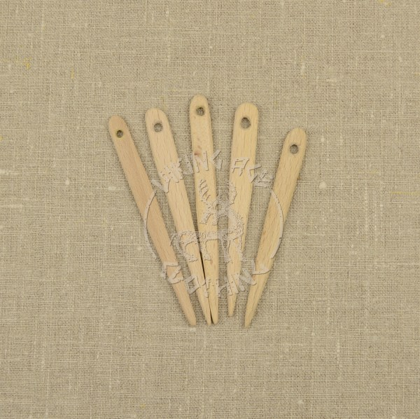 Handmade wooden nalbinding needles