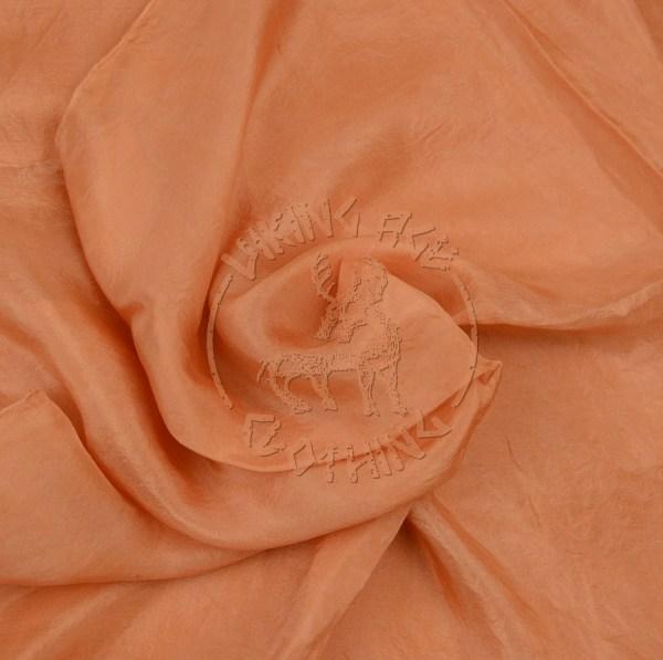 Plant-dyed silk shawl - madder apricot