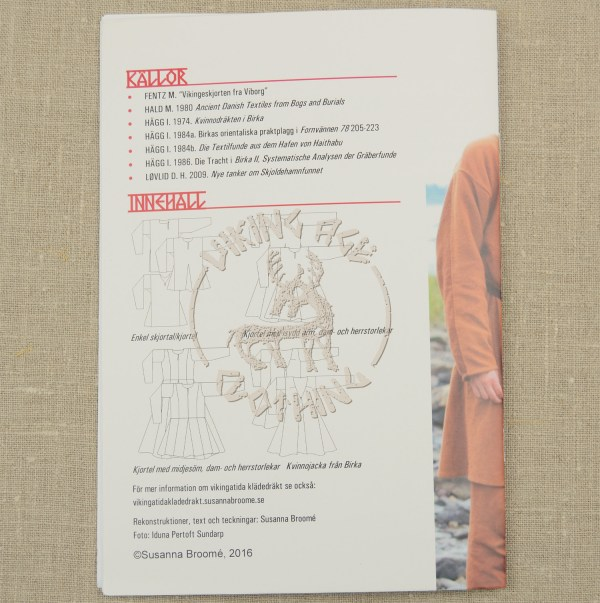 Shirt and tunic booklet - back