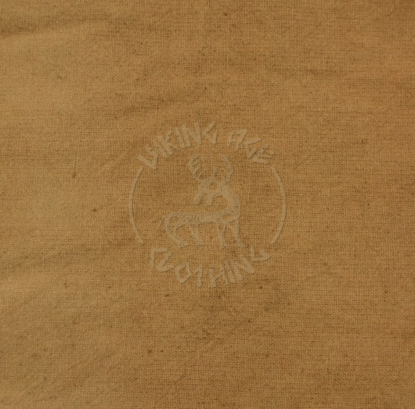 Plant-dyed plain weave fabric - walnut brown