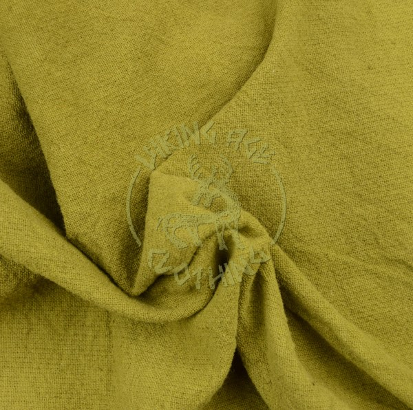 Plant-dyed plain weave fabric - olive green