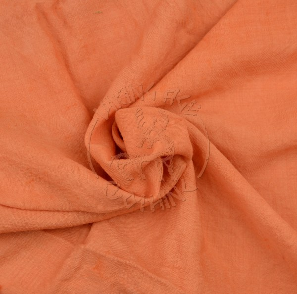 Plant-dyed wool muslin fabric - apricot