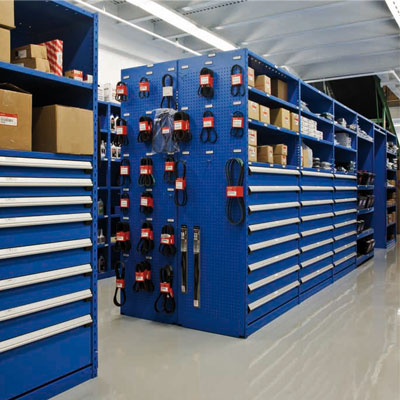 Parts room shelving in Connecticut Massachusetts and