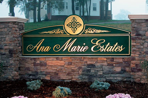 ana marie estates sign viking forge design
