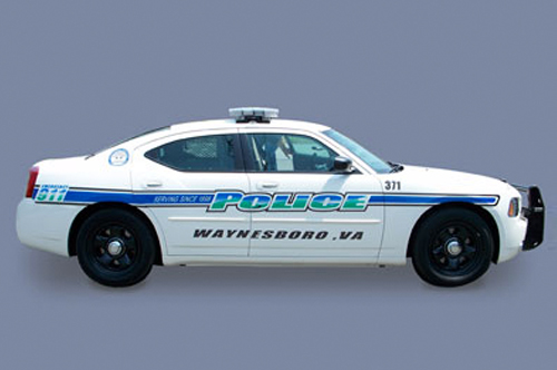 waynesboro police car vehicle wrap viking forge design