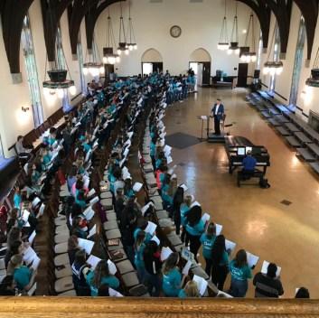 High School Choir Festival; photo courtesy of Berry College Choirs