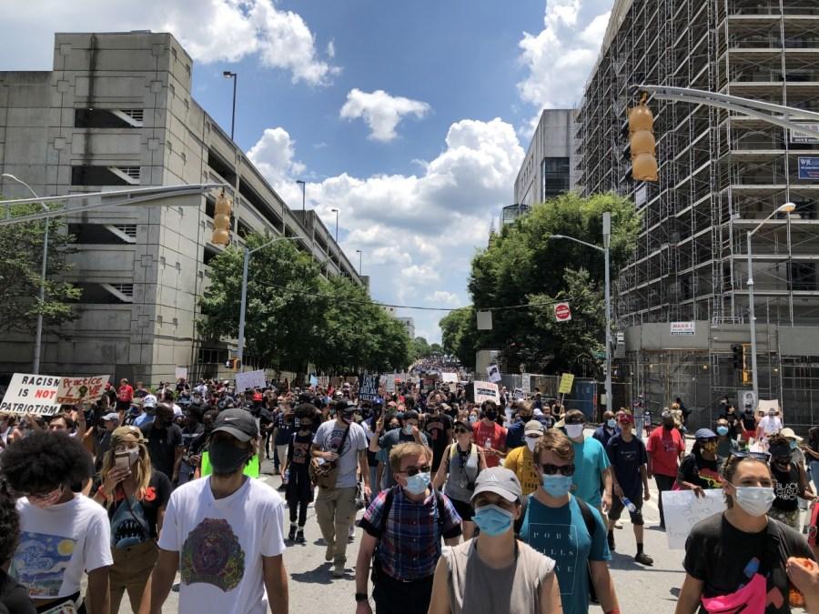 OneRace protest in Atlanta