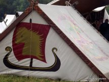 Decorated viking tent - Moesgard.