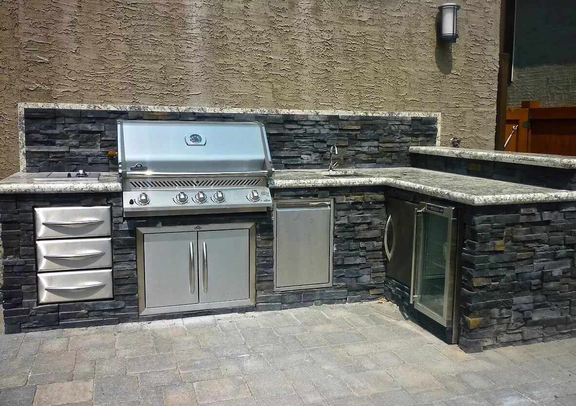 viking outdoor kitchen green decor kitchens landscaping what does your lifestyle look like