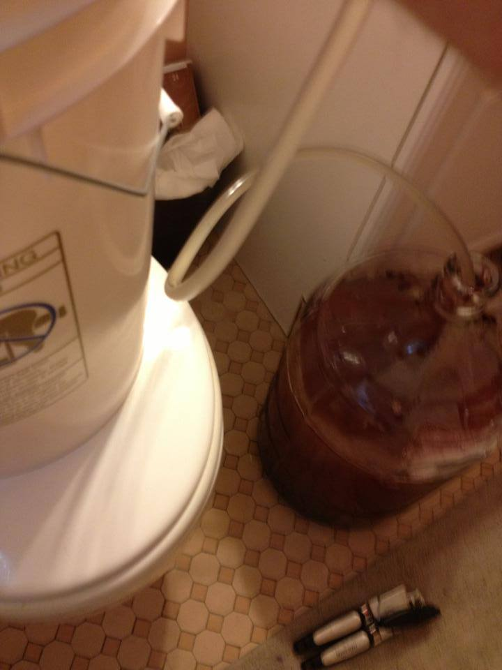siphoning into carboy