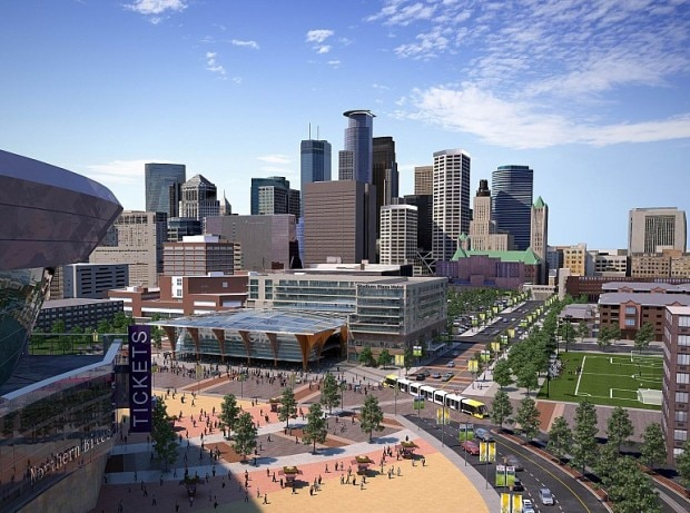 New Stadium Downtown View