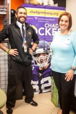 Agent Elliot Nelson and Development Officer Barbie Hentges work closely with the Chad's Locker program at Children's.
