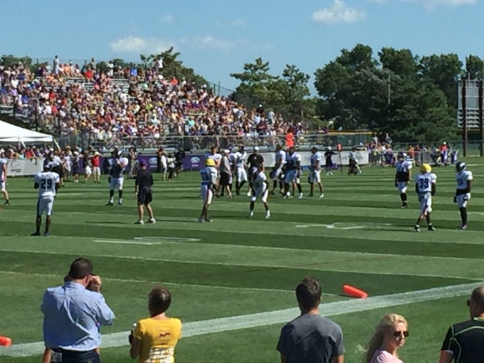 75% — Too far away, but Zimmer spent much of the day working directly with the cornerbacks