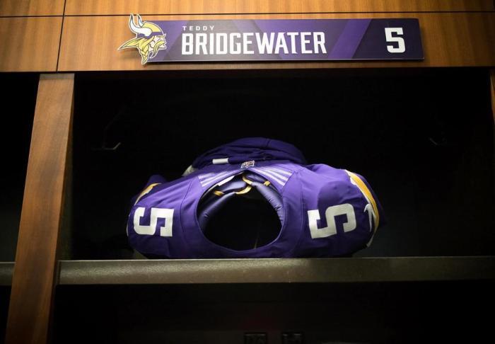 Teddy Bridgewater Injured at Vikings Practice