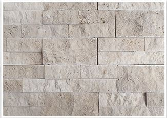 Nougat stackstone cladding travertine