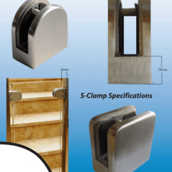 Pool fencing D and S Clamp