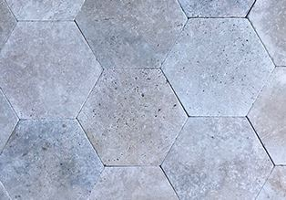 Ronan Travertine Hexagonal Paver