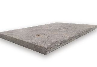 Silver Tumbled Travertine Bullnose 1220