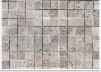 VSM12 travertine mosaic silver square