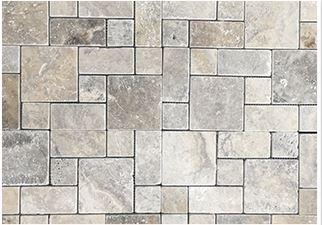 Travertine mosaic