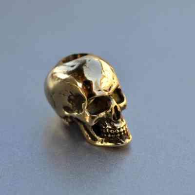Фото бусина череп из латуни