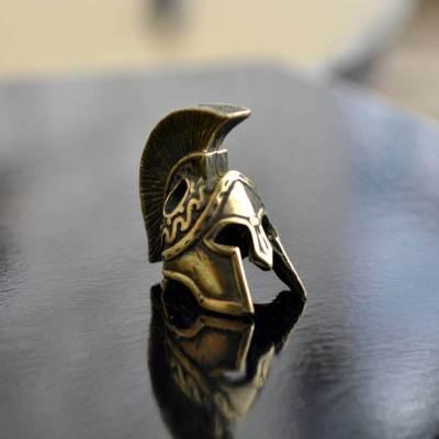Фото бусина ручного литься шлем спартанца