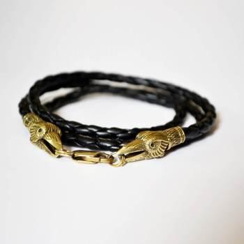 Фото браслет намотка кожаный с воронами