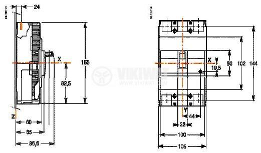 Automatic Circuit Breaker EZC250N3150 150A 550V vikiwat