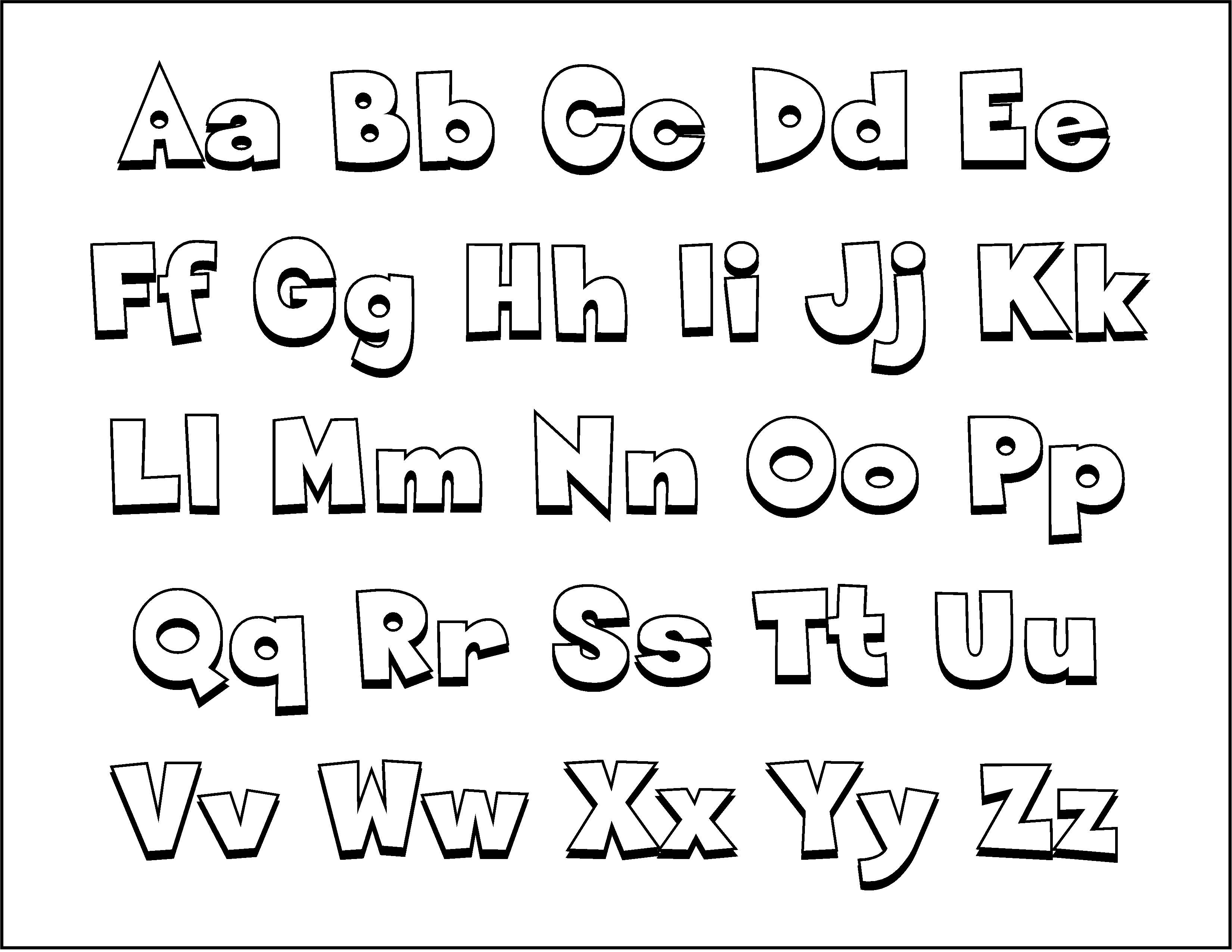 ацц раскраска английский алфавит без картинок него узнаете
