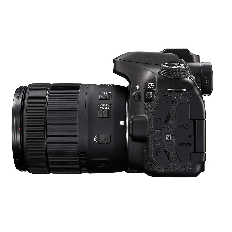 Canon EOS 80D DSLR with EF-S 18-135mm f/3.5-5.6 USM Lens