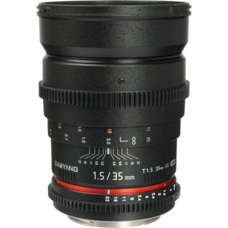 Samyang 35mm T1.5 Cine Lens for Canon EF