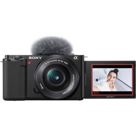 Sony ZV-E10 Mirrorless Camera with 16-50mm Lens (Black) with Extendable Mini Tripod