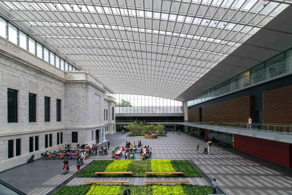 20140804. Cleveland Museum Of Art Football-field-length Glass Atrium With Original