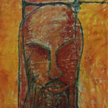 Becoming One with Fear   38in x 44in   Mixed Media   2008