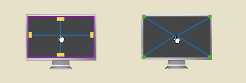 Corners and edges are prime screen real estate. (Diagrams: smashingmagazine)
