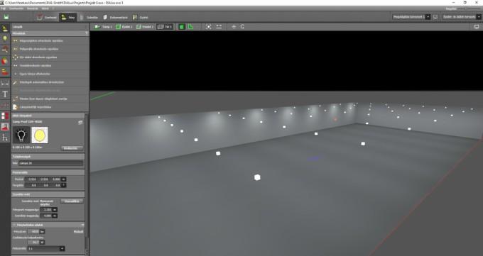 DIAlux tervező szoftver