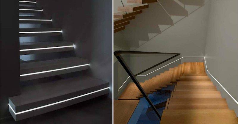 Led szalagos lépcső világítás