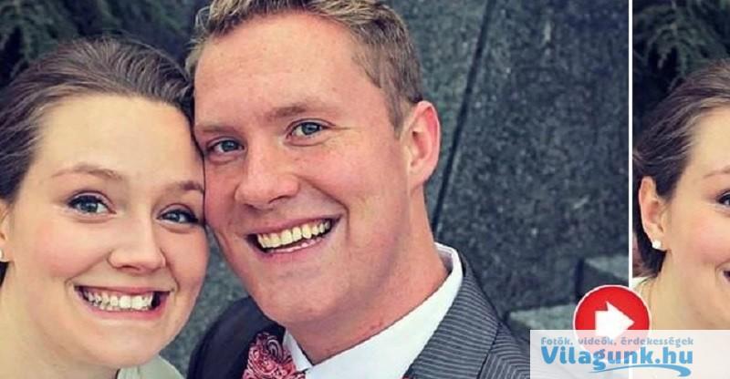 Felkerült ennek a párnak az esküvői fotója a Facebook-ra... Az emberek észrevettek rajta valami hátborzongatót!
