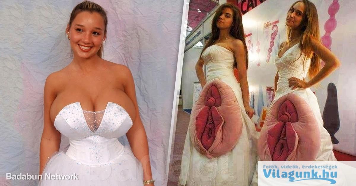 16 legbetegebb esküvői ruha, amit ember valaha felvett