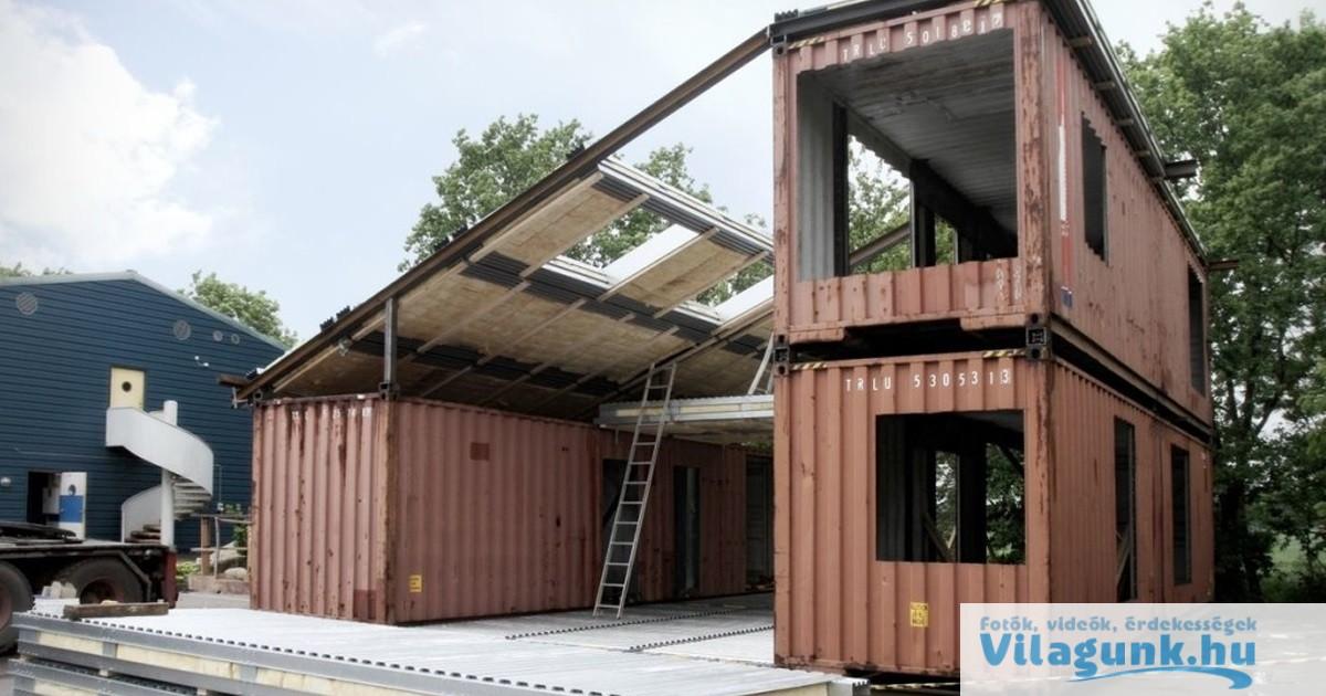 Megépítették álmaik otthonát 3 leselejtezett raktárkonténerből... Te laknál egy ilyen házban?