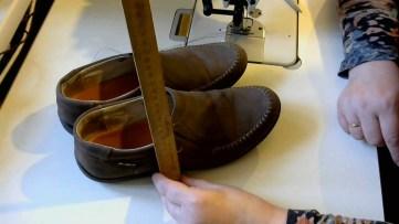 Измеряем высоту мешка для обуви